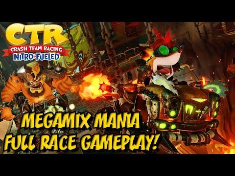 Crash Team Racing Nitro Fueled - Megamix Mania - FULL RACE GAMEPLAY!