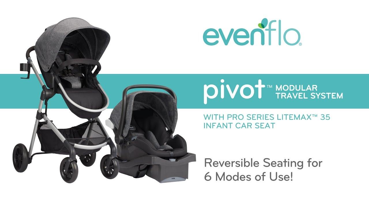 Evenflo Pivot Modular Travel System With Pro Series Litemax 35