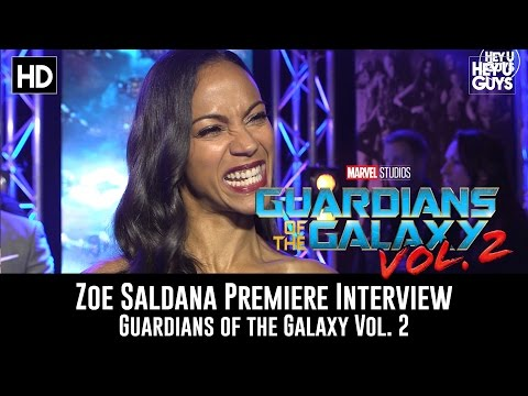 Zoe Saldana Premiere Interview - Guardians of the Galaxy Vol. 2