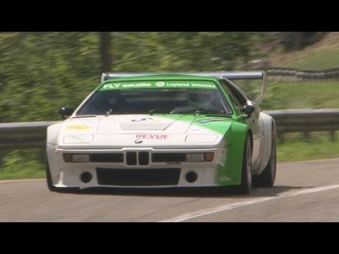 This BMW M1 at a hillclimb is better than coffee