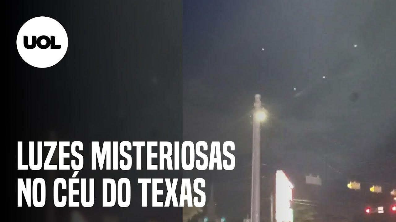 Download OVNI espião? Luzes em formação triangular voltam a iluminar o céu do Texas