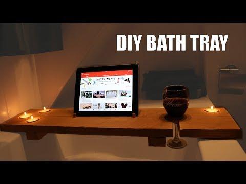 Amazing DIY - Bath Tray/ Suporte para banheira super chic e fácil de fazer