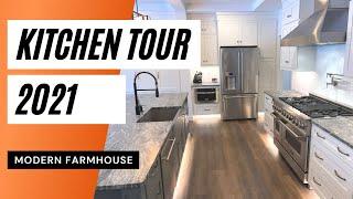Modern Farmhouse Kitchen Tour 2021 Kitchen Design Zline Kitchen Appliances Youtube