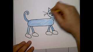 pete cat drawing