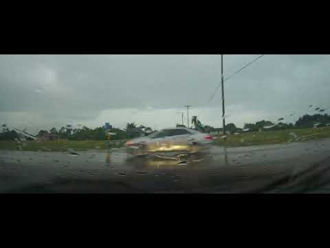 Driving around Lehigh Acres, Florida through neighborhoods in the rain
