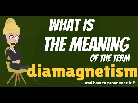 What is DIAMAGNETISM? What does DIAMAGNETISM mean? DIAMAGNETISM meaning & explanation