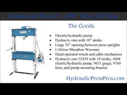 Commercial Hydraulic Press 1 - OTC 1854
