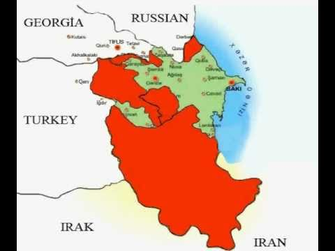Over the Years 1500 - 1827 Azerbaijan map, Azerbaijan map, اراضی آذربایجان
