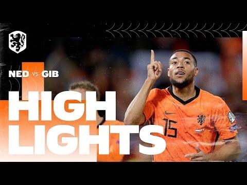 Highlights Nederland - Gibraltar  (11/10/2021) WK-kwalificatie