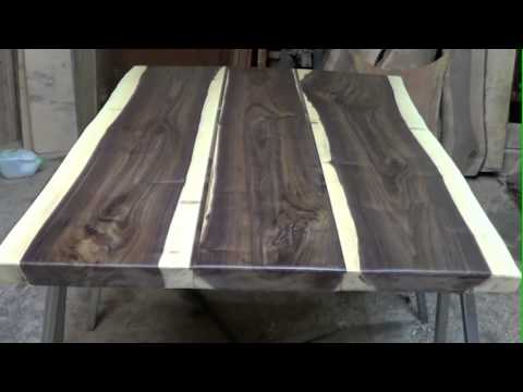 Rustic timber company wood slabs in the shop and a for Finished wood slabs