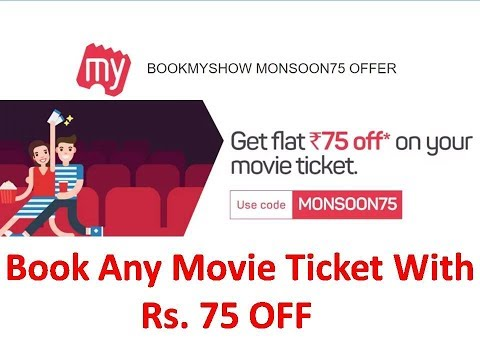 BookMyShow Movie Voucher FREE Worth Rs.75 For All User | Valid Till 31st July 2019