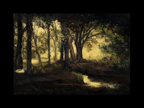 Evening Light 7×10 Tonalist Landscape Oil Painting Demonstration