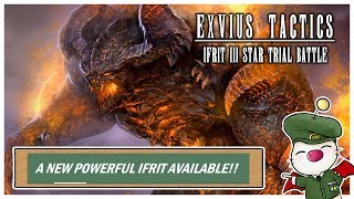 FFBE Global - New Trial of Fire Beast - Lets get Ifrit 3 Stars!