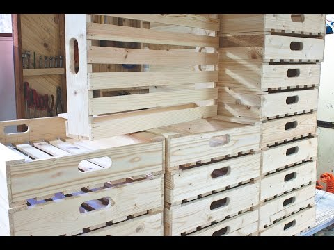 Simple Wooden Crates for Potato/Vegetable Storage