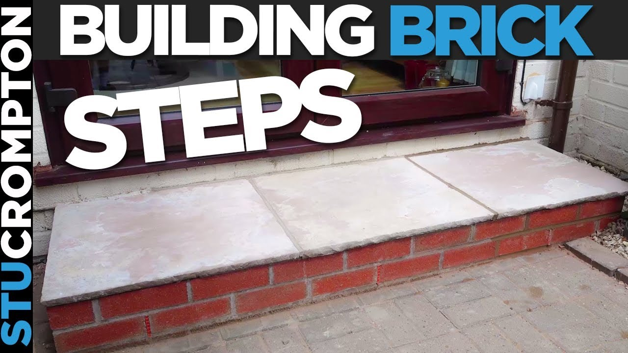 how to build a brick step bricklaying