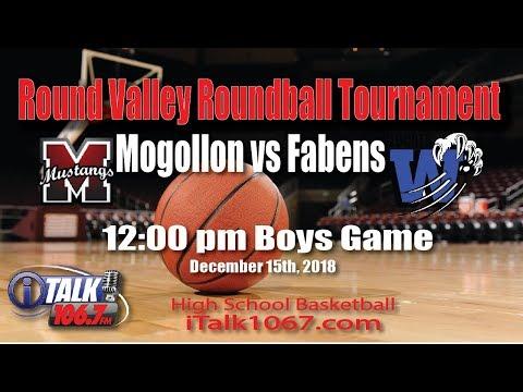 Fabens vs Mogollon High School Basketball Round Valley Roundball Shootout