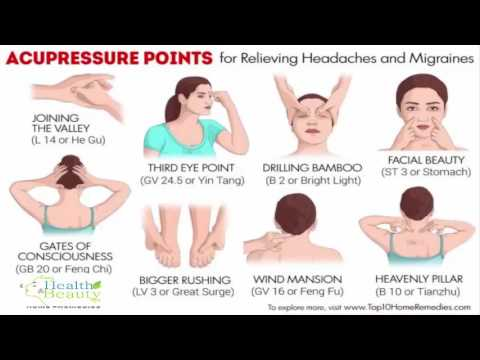 10 acupressure points for relieving headaches and migraines