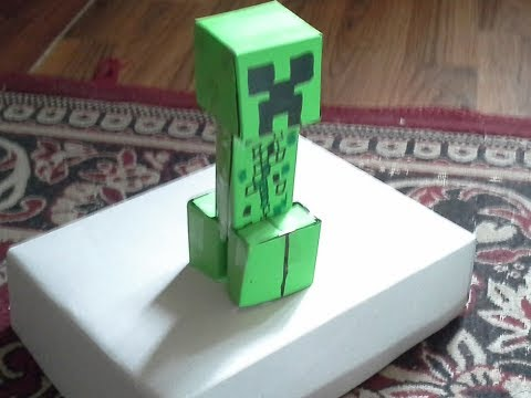How to make an easy paper minecraft creeper.