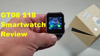 Review of the GT08, an $18 smartwatch from China