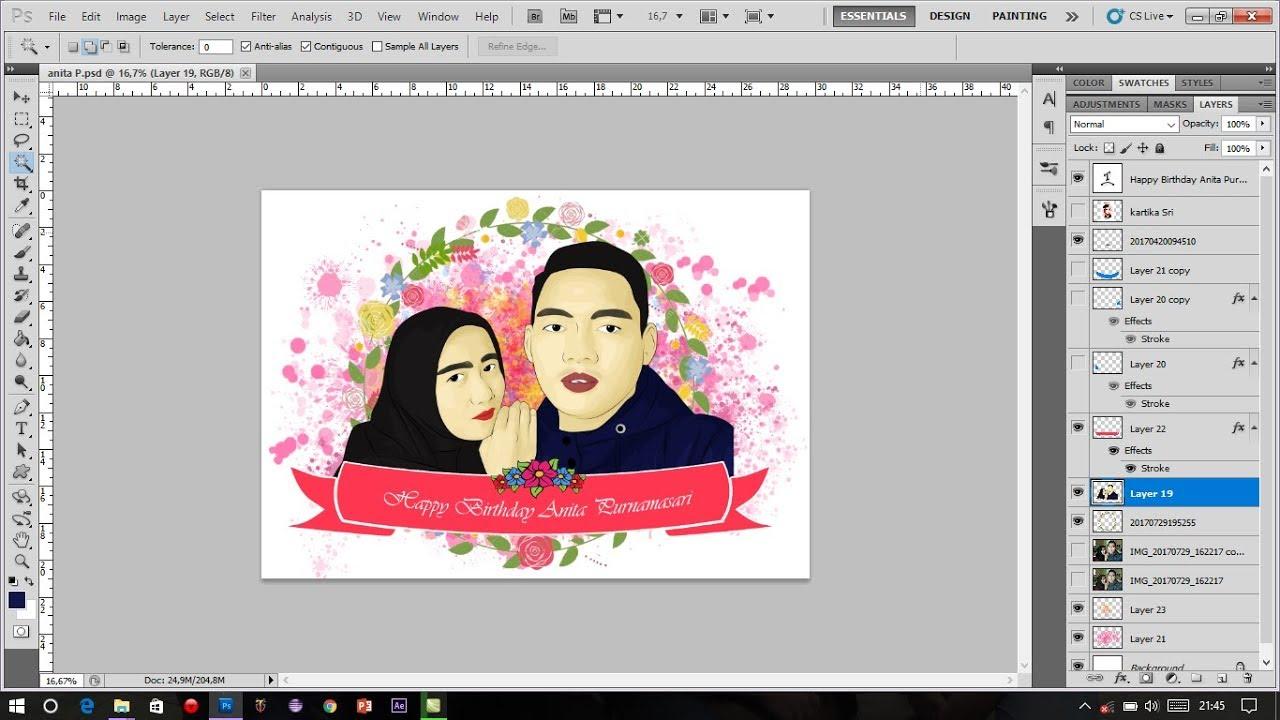 Tutorial Photoshop Cara Membuat Foto Menjadi Kartun Vector Couple Youtube