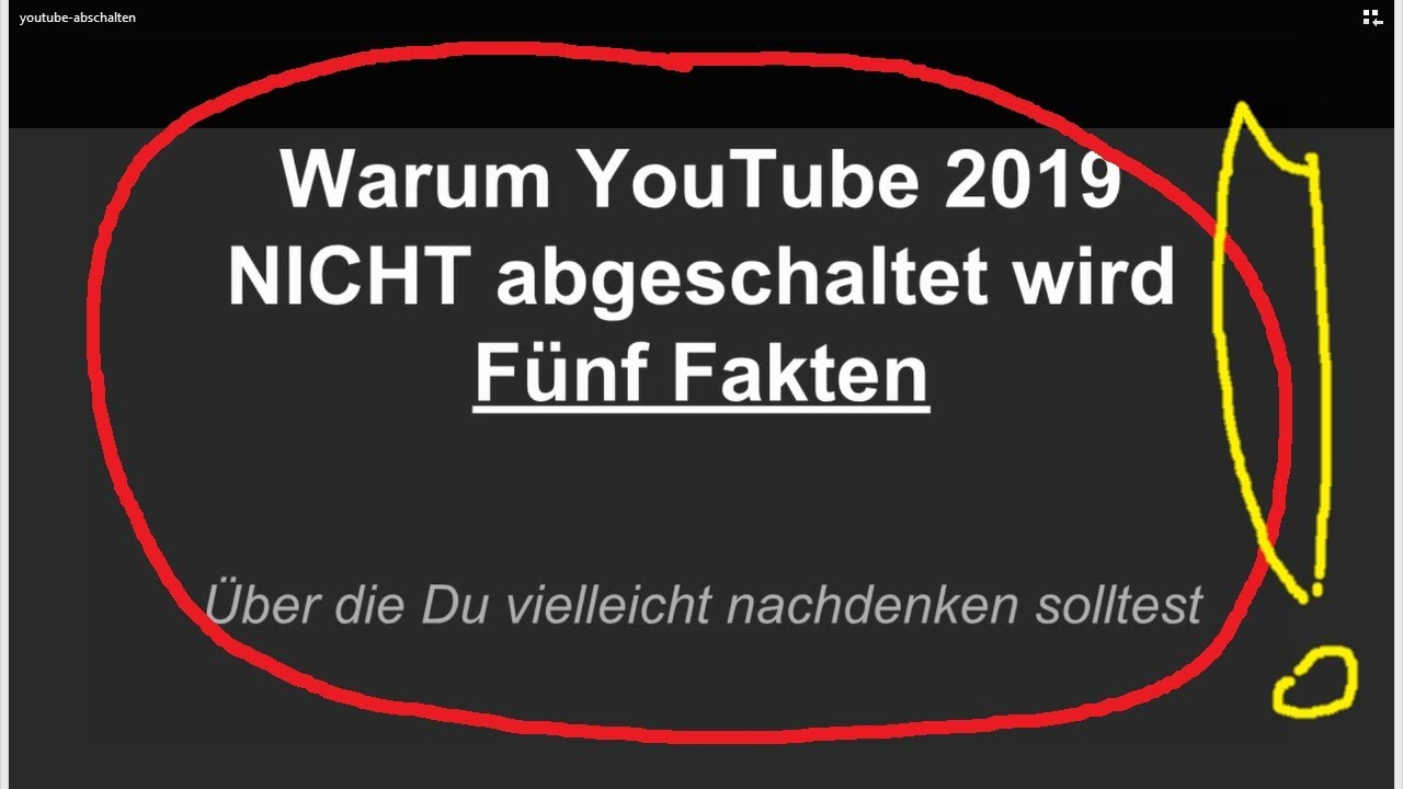 Youtube Wird Abgeschaltet