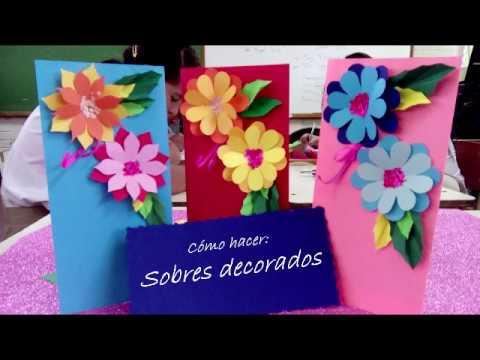 Como decorar un sobre con flores de papel imperial youtube - Como decorar un sobre ...