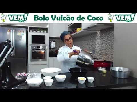 Live Silvia Nicolau   Bolo Vulcão | Vemplast