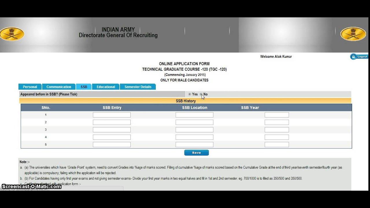TGC 120 Online Application Process - YouTube