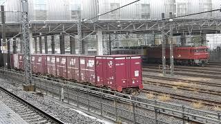 石油貨物列車の到着
