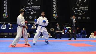 Vasilov Vitaliy (RUS) - Yagcı Serkan (TUR). Karate1. Tyumen, April 2013
