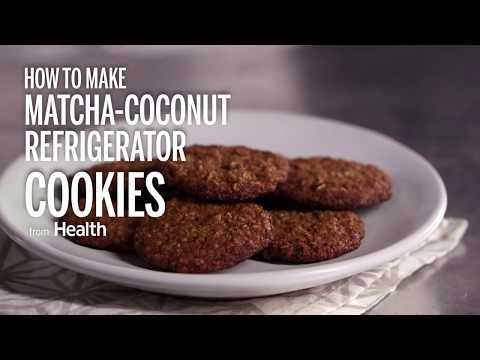 How to Make Matcha-Coconut Refrigerator Cookies | Health