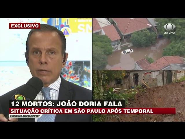 Forte chuva deixa 12 mortos em São Paulo