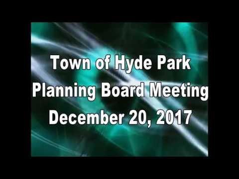 Hyde Park Planning Board 12-20-17