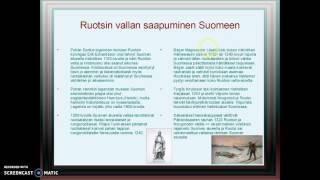 Ruotsin vallan saapuminen Suomeen