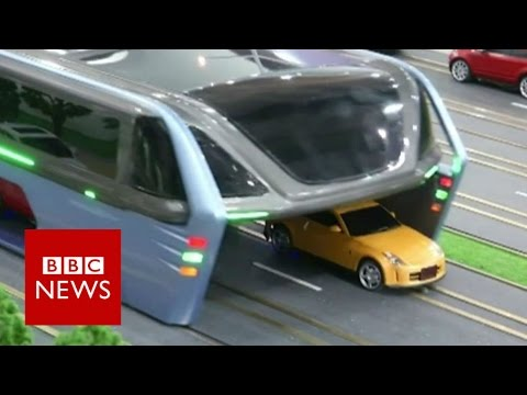 The 'Super Bus' that will drive over cars - BBC News