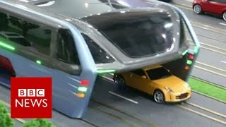 The bus that will drive over cars - BBC News