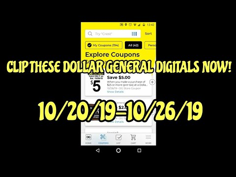 Clip These Dollar General Digitals Now 10/20/19-10/26/19!