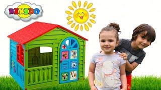 Большой Детский Игровой Домик. Распаковка и сборка домика.  Children play house. Кикидо.