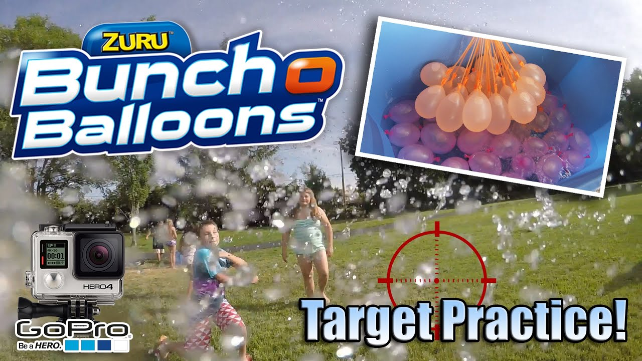 BUNCH O BALLOONS!!! Parent Target Practice with GoPro ...