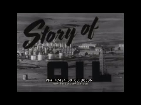 1940s OIL PRODUCTION & PETROLEUM PROCESSING  VINTAGE FILM  4