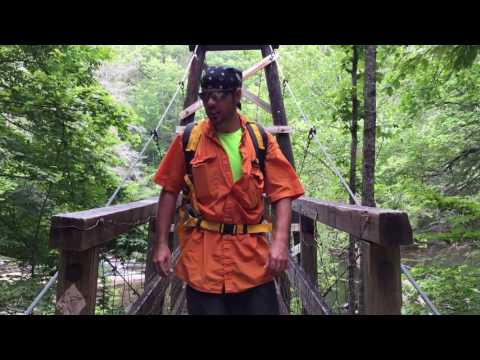 Swinging Bridge in Chattahoochee National Forest