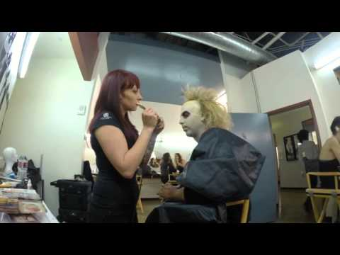 Beetlejuice makeup, a tribute to Ve Neill at Cinema Makeup School.