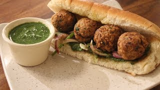 Indian Style Chicken Meatball Roll | Sanjeev Kapoor Khazana