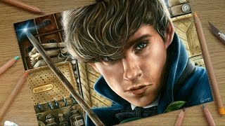 Video DRAWING NEWT SCAMANDER (Eddie Redmayne) ⭐ Fantastic Beasts & Where To Find Them ⭐ download MP3, 3GP, MP4, WEBM, AVI, FLV Desember 2017
