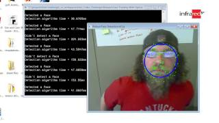 Testing different Methods of Face Tracking using OpenCV