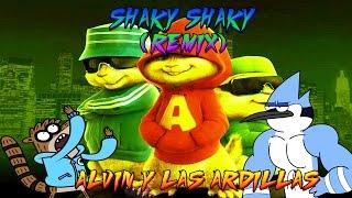 Daddy Yankee - Shaky Shaky Remix - Ft. Nicky Jam, Plan B   Video Lyric//Alvin y las Ardillas