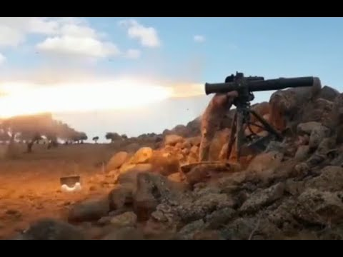 Syrian jihadists using guided missiles | Early January of 2018 | Hama - Idlib border region