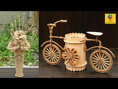 DIY Room Decor! Quick and Easy Home Decorating Ideas with Burlap Jute | Handmade DIY Craft Ideas