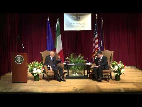 Seventh Annual Emile Noel Lecture featuring Giorgio Napolitano, President of the Republic of Italy