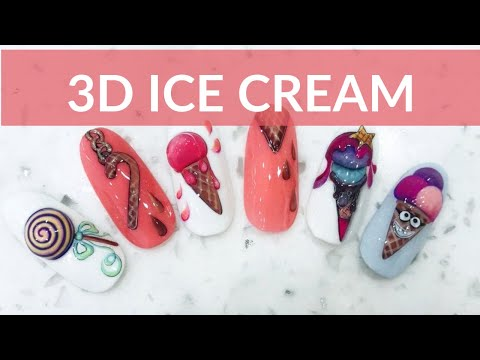 3D ICE CREAM | NAIL ART TUTORIAL thumbnail